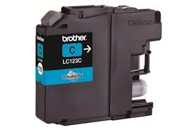 Brother LC123C Cyan Refurbished Ink Cartridge (LC-123C Inkjet Printer Cartridge)