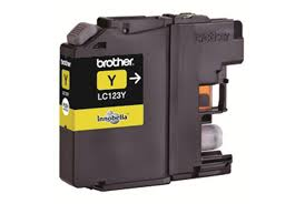 Brother LC123Y Yellow Refurbished Ink Cartridge (LC-123Y Inkjet Printer Cartridge)