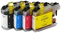Brother LC223 4 Colour Ink Cartridge Refurbished Multipack (LC223BK/LC223C/LC223M/LC223Y)