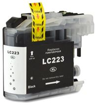 Brother LC223 Black Refurbished Ink Cartridge (LC223BK Inkjet Printer Cartridge)