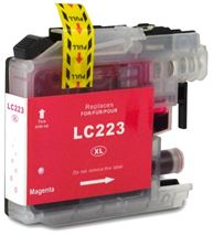 Brother LC223 Magenta Refurbished Ink Cartridge (LC223M Inkjet Printer Cartridge)