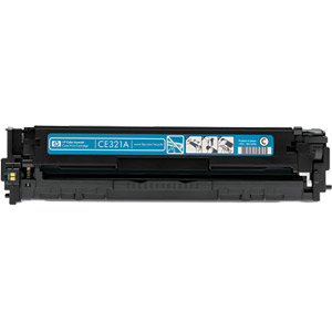 HP 128A Cyan Refurbished Toner Cartridge (CE321A)
