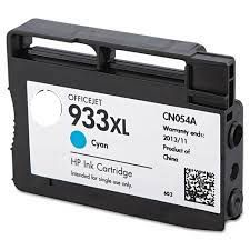 HP 933XL Cyan Refurbished Ink Cartridge - (CN054AE) HP 933