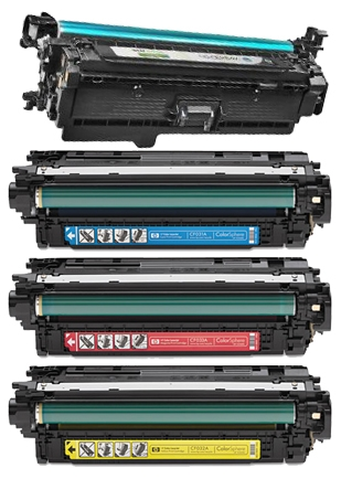HP CM4540 B/C/M/Y Refurbished Toner Value Pack