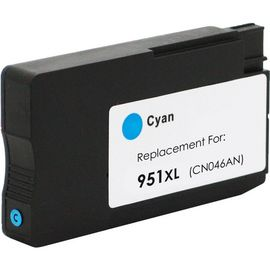 Refurbished High Capacity Cyan HP 951XL Printer Cartridge - (HP CN046AE)