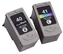 Canon Compatible Black & Tri-Colour Canon PG-40 / CL-41 Ink Cartridge Multipack - (0615B001 & 0617B001)