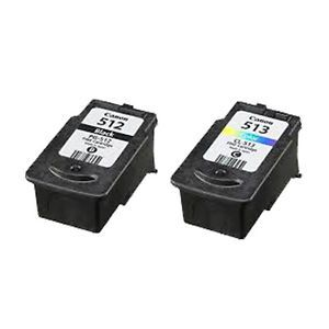 Compatible High Capacity Black Canon PG512 & Tri-Colour CL513 Ink Cartridge Multipack - (2969B001AA & 2971B001AA)